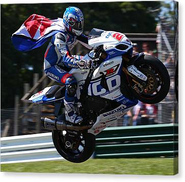Canvas Print featuring the photograph Superbike Superhero by Lawrence Christopher