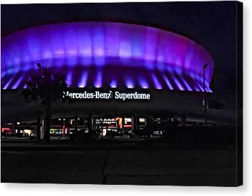 Superdome Night Canvas Print by Steve Harrington