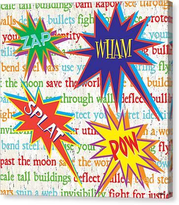 Superhero 1 Canvas Print by Debbie DeWitt