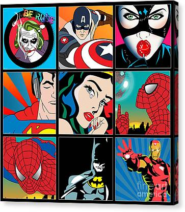 Superheroes Canvas Print by Mark Ashkenazi