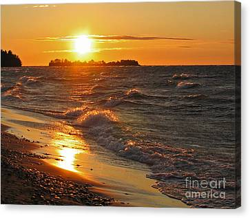 Superior Sunset Canvas Print by Ann Horn