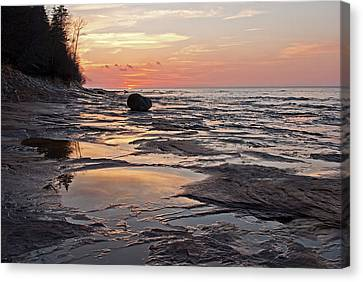 Superior Sunset  Canvas Print