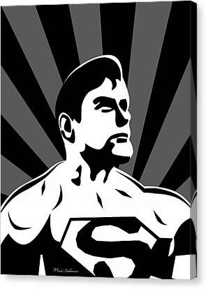 Superman 5 Canvas Print by Mark Ashkenazi