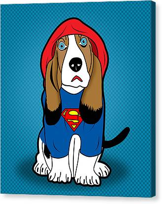 Superman Dog  Canvas Print by Mark Ashkenazi