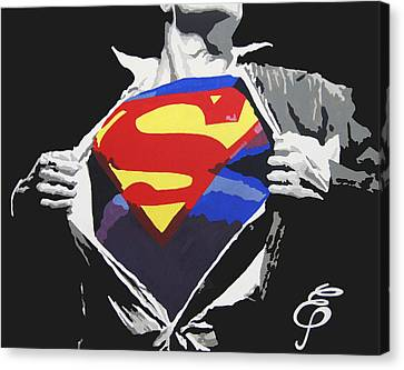 Superman Canvas Print by Erik Pinto