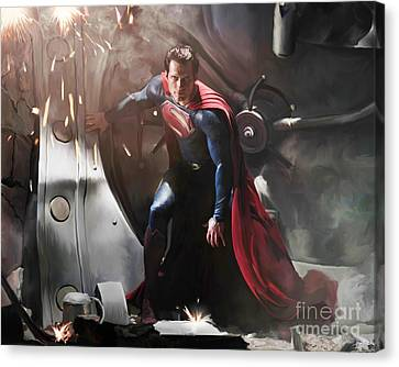 Superman Canvas Print by Paul Tagliamonte