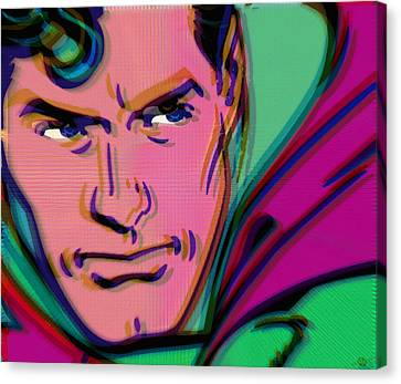 Superman Pop 2 Canvas Print