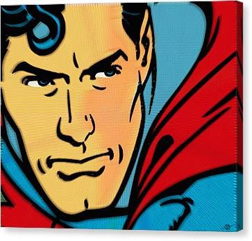Superman Pop Canvas Print