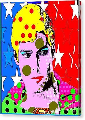 Superman Canvas Print by Ricky Sencion