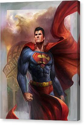 Man Of Steel Canvas Print by Steve Goad