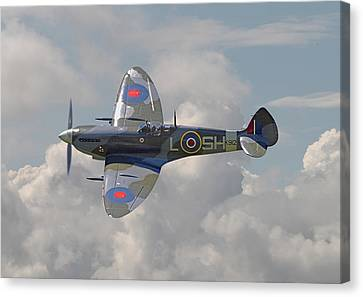 Fighter Canvas Print - Supermarine Spitfire by Pat Speirs
