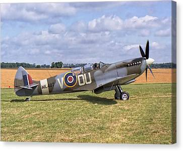 Canvas Print featuring the photograph Supermarine Spitfire T9 by Paul Gulliver