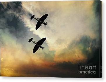 Supermarine Spitfires  Canvas Print by J Biggadike