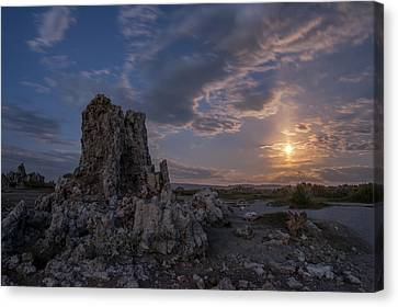 Supermoon At Mono Lake Canvas Print