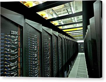 Supermuc Supercomputer Canvas Print by Ibm Research