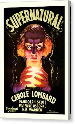 Supernatural 1933 Canvas Print by Presented By American Classic Art