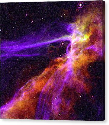 Supernova In Cygnus Canvas Print by Absinthe Art By Michelle LeAnn Scott