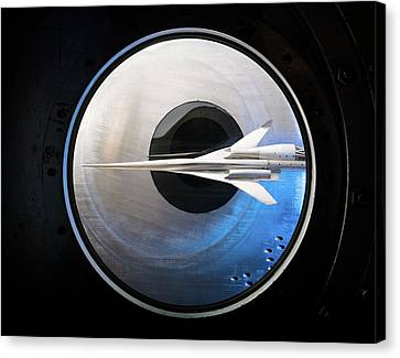 Highspeed Canvas Print - Supersonic Aircraft Model In Wind Tunnel by Nasa/quentin Schwinn