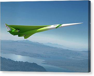 Supersonic Plane Concept Canvas Print by Nasa/lockheed Martin