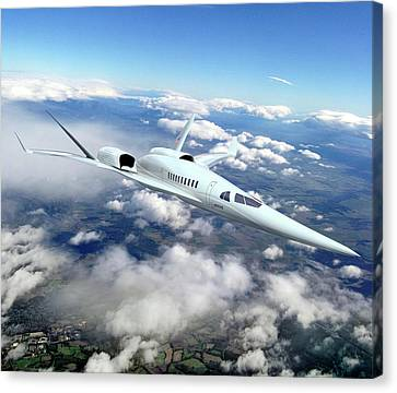 Supersonic Plane Concept Testing Canvas Print by Nasa