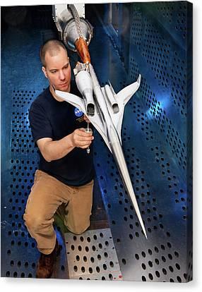 Supersonic Plane Concept Testing Canvas Print by Nasa/quentin Schwinn