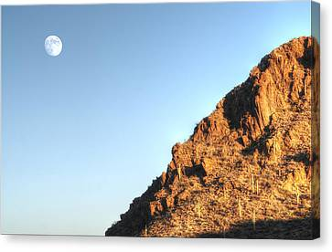 Canvas Print featuring the photograph Superstition Mountain by Lynn Geoffroy
