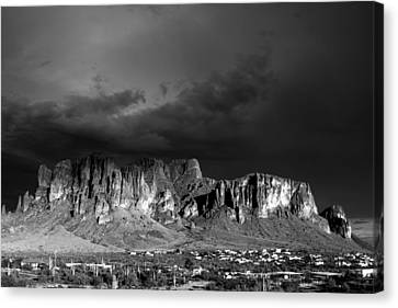 Superstition Mountain Canvas Print by Maxwell Amaro