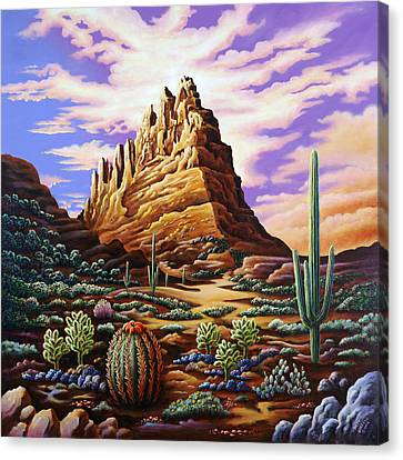 Superstition Mountains Canvas Print by Andy Russell