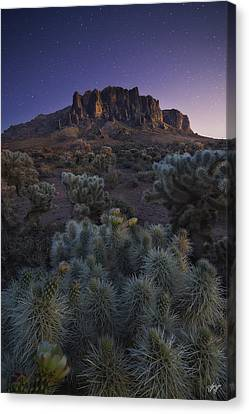 Superstitious Twilight Canvas Print by Peter Coskun