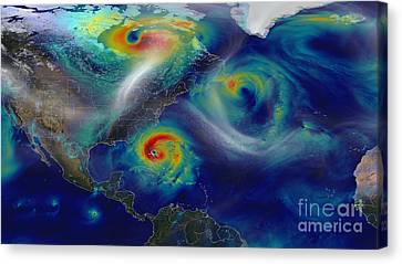 Superstorm Sandy Canvas Print by Science Source