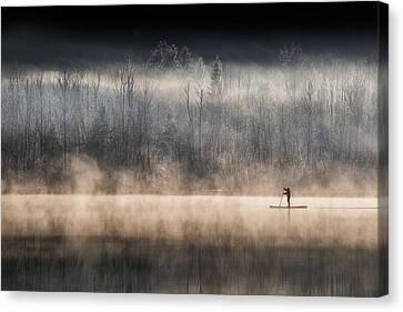 Suping On Bohinj Lake Canvas Print
