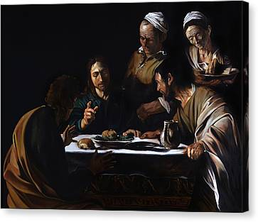 Supper In Emmaus Canvas Print by Massimo Tizzano
