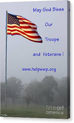 Support Our Troops And Veterans Canvas Print