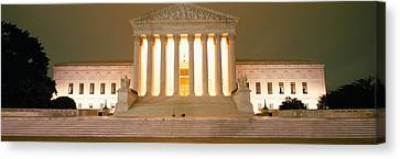 Supreme Court Building Illuminated Canvas Print by Panoramic Images