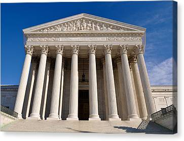 Supreme Court Of United States Of America Canvas Print
