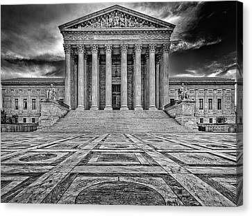 Canvas Print featuring the photograph Supreme Court by Peter Lakomy