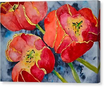 Supta Vajrasana Canvas Print by Beverley Harper Tinsley