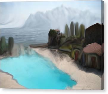 Sur La Mer  C#  72 Canvas Print by Viggo Mortensen