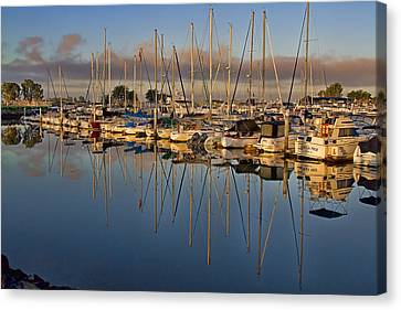 Canvas Print featuring the photograph Sur La Mer by Gary Holmes