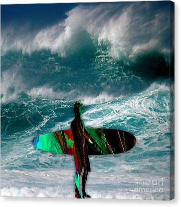 Surf Board Canvas Print by Marvin Blaine