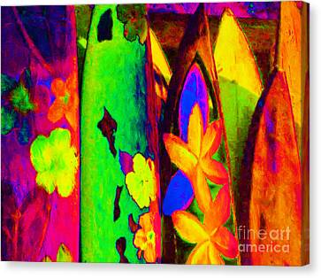 Surf Boards V2 Canvas Print by Wingsdomain Art and Photography