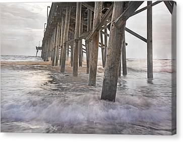 Surf City Ocean Pier Canvas Print by Betsy C Knapp