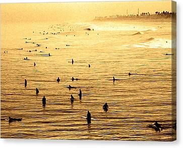 Surf Convention Canvas Print by Ron Regalado
