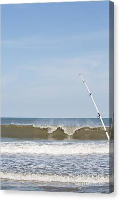 Surf Fishing Canvas Print by Kay Pickens