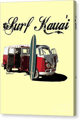 Surf Kauai Canvas Print