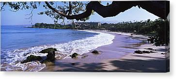 Surf On The Beach, Mauna Kea, Hawaii Canvas Print