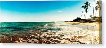 Surf On The Beach, Morro De Sao Paulo Canvas Print by Panoramic Images