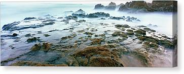 Roca Canvas Print - Surf On The Coast During Low Tide, Las by Panoramic Images