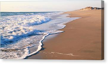 Surf On The Outer Banks Beach  Canvas Print by Roupen  Baker