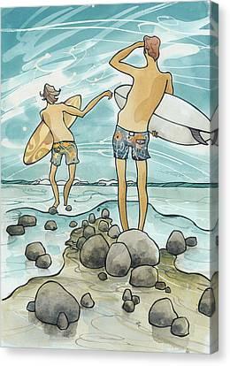 Surf Rocks Canvas Print